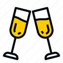alcohol, champagne, party icon