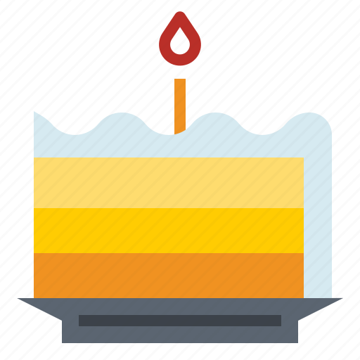 birthday, cake, dish icon