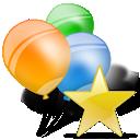 ballon, ballons, folder, star icon