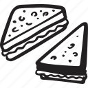 bistro, food, lunch, restaurant, sandwitch, toast icon