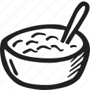 bistro, bowl, food, meal, restaurant, rice icon