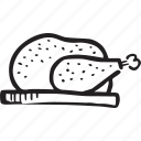 bistro, chicken, food, meat, restaurant, turkey icon