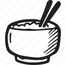 bistro, bowl, food, restaurant, rice icon