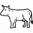 animal, beef, bistro, cow, food, restaurant icon