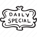 daily special, menu, restaurant, special icon