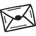 contact, envelope, letter, mail, restaurant icon