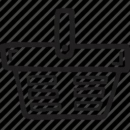 basket, cart, restaurant, shoping icon