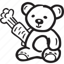 bear, kids, menu, restaurant, teddy bear icon