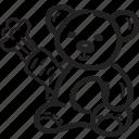 bear, kids, menu, restaurant, teddy bear icon