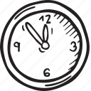 clock, restaurant, time icon