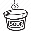 container, restaurant, soup, take out icon