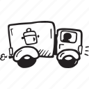 delivery, food, restaurant, truck icon