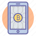 bit, coin, digital currency, mobile, money, payment, phone icon