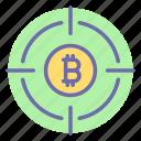 bit, currency, finance, money, money target, target, bitcoin
