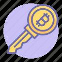 bit, bitcoin key, coin, finance, key, money, bitcoin