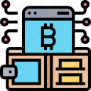 bitcoin, wallet, digital, money, cryptocurrency