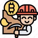 mining, bitcoin, cryptocurrency, trade, transaction
