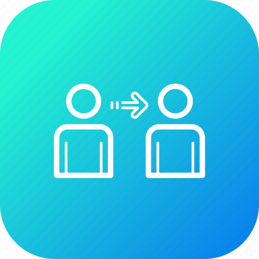 block, chain, exchange, money, network, person, transfer icon