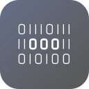binary, bitcoin, code, digital, encryption, safety, security icon