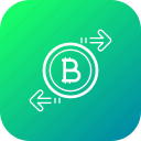 bitcoin, chain, currency, exchange, money, transfer icon
