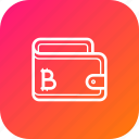 bitcoin, cash, finance, money, savings, wallet icon