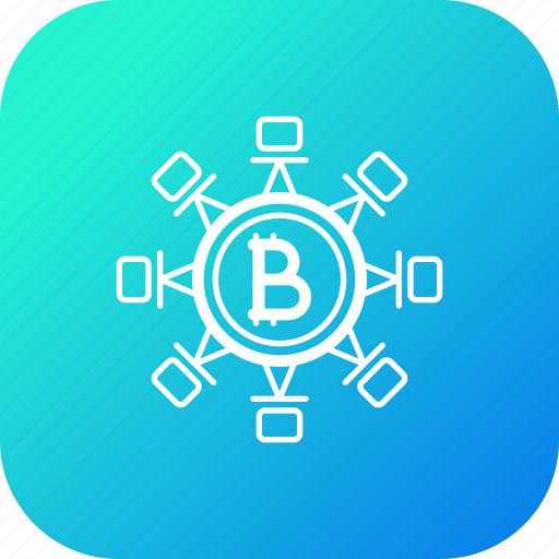 bitcoin, block, chain, connection, network, secure, transaction icon