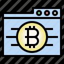 bitcoin web, cryptocurrency, folder, blockchain, bitcoin data icon