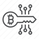 bitcoin, digital, key, security, protection, password, lock