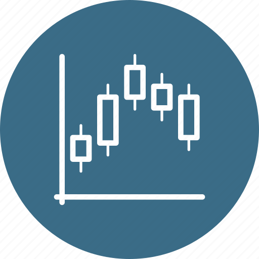 analytics, bitcoin, block, chain, currency, graph icon