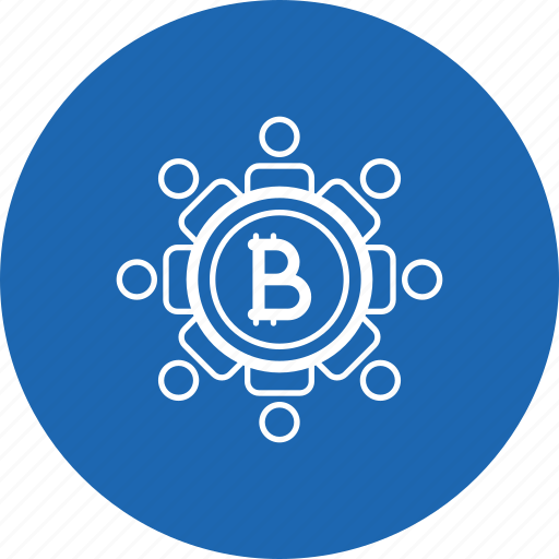 bitcoin, block, chain, connection, network, secure icon