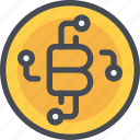 bank, bitcoin, coin, currency, money, network icon