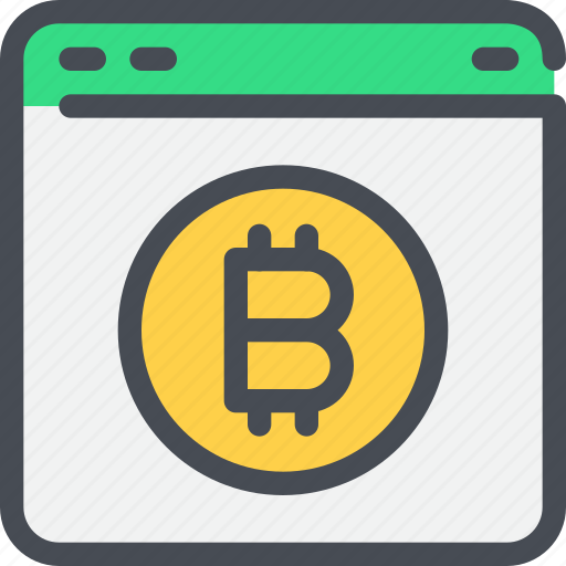 bitcoin, browser, coin, currency, money icon
