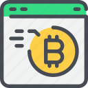 bitcoin, browser, currency, money, secure icon
