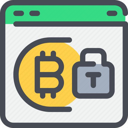 bitcoin, browser, coin, currency, money, secure icon