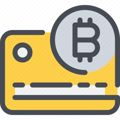 bitcoin, credit card, currency, money, payment icon