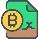 bitcoin, coin, currency, document, file, money icon