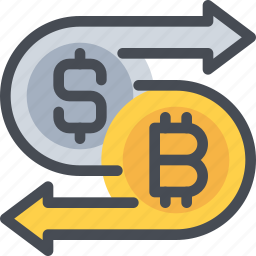 bitcoin, coin, currency, exchange, money icon