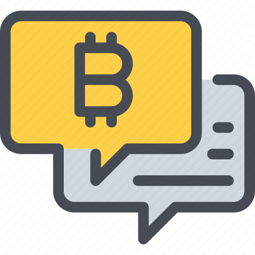 bitcoin, communication, currency, message, money icon