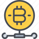 bitcoin, coin, connect, currency, money, network icon