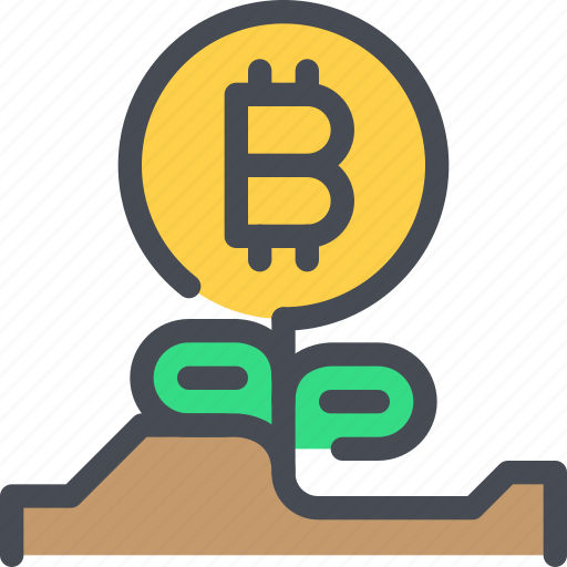 bitcoin, coin, currency, finance, growth, investment, money icon