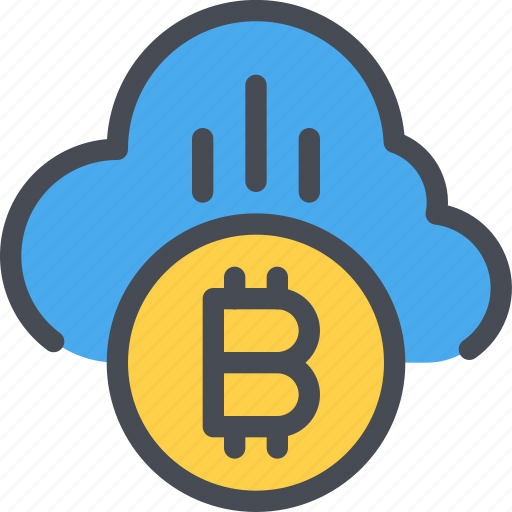 bitcoin, cloud, coin, currency, money icon
