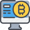 bitcoin, coin, computer, currency, digital, money icon