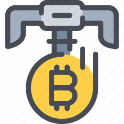 bitcoin, coin, currency, dig, money icon
