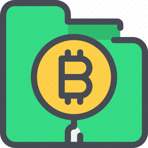 bitcoin, currency, file, finance, folder, money icon