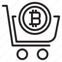 bitcoin, blockchain, cart, coin, cryptocurrency, finance, money icon