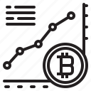 bitcoin, blockchain, coin, cryptocurrency, finance, graph, money icon