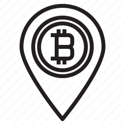 bitcoin, blockchain, coin, cryptocurrency, finance, location, money icon