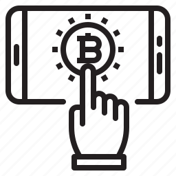 bitcoin, blockchain, coin, cryptocurrency, finance, money, smartphone icon