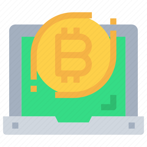 bitcoin, btc, computer, currency, device, money icon