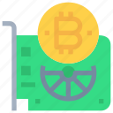bitcoin, btc, computer, currency, device, hardware, money icon
